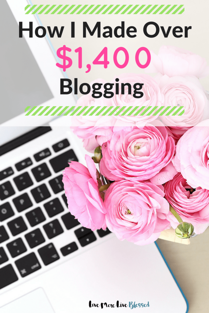 How I made over $1,400 with my blog. I've included the resources that were helpful and the programs that are making money for me! Blogging is so much fun! If you are thinking about starting a blog PIN NOW & READ LATER.