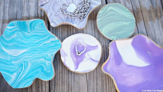 DIY Marbled Clay Dishes