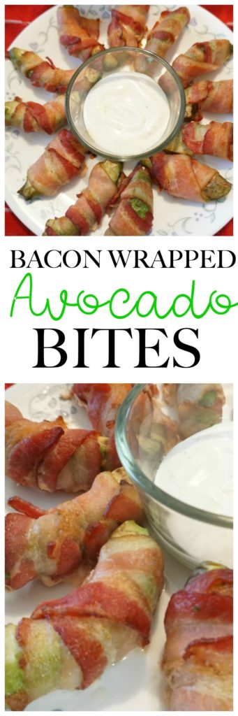 This super simple appetizer Bacon Wrapped Avocado Bites are perfect for game day or anytime you need a quick and easy appetizer! low carb, gluten free