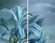 Agapontos (2013-2014) Diptych 80x100cm Acrylic on Canvas AVAILABLE