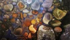 Pedras, Agua e Luz (2014) 70x120cm Acrylic on Canvas SOLD