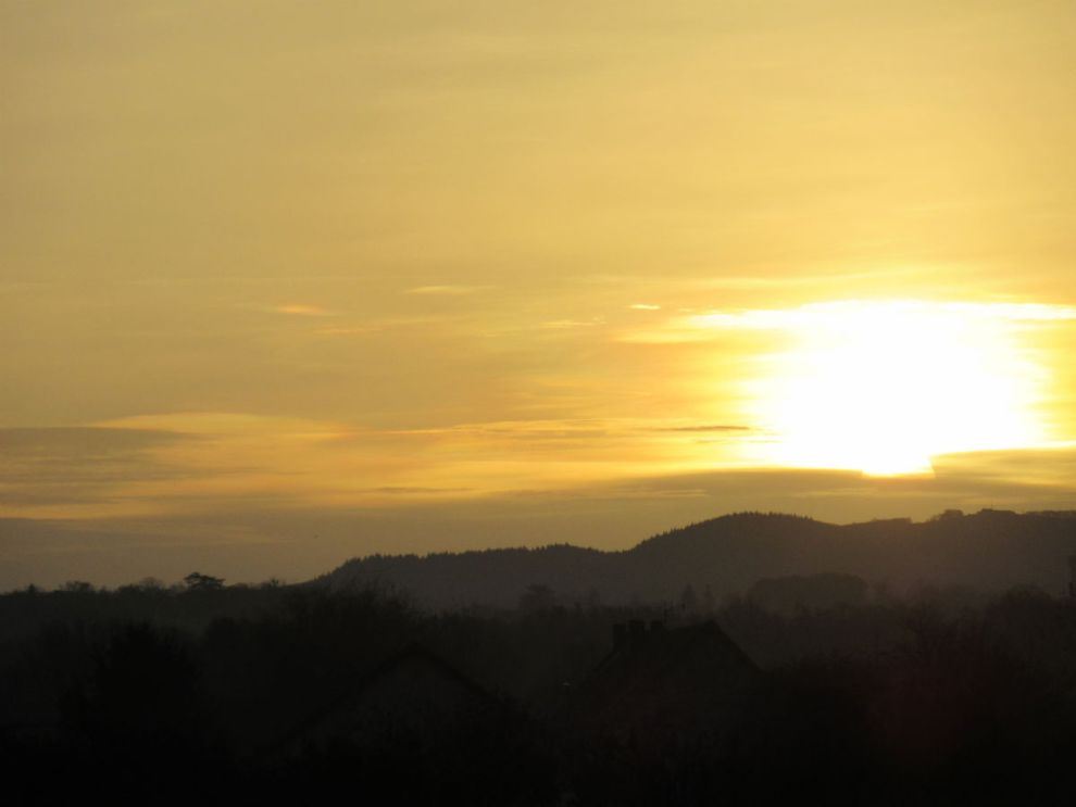 Sunrise over Burgundy