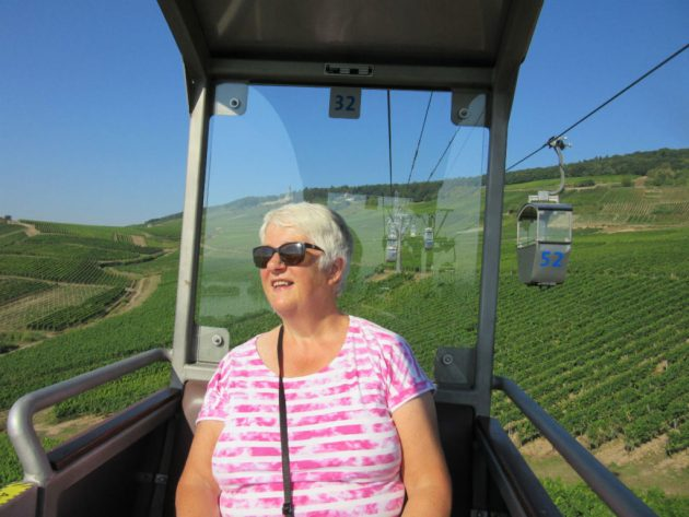 Shirley, who used to have a fear of heights. She's loving it.