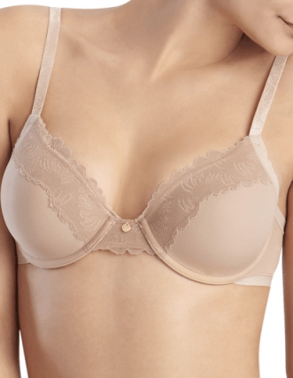 T-shirt bras create a wide rounded shape that is best paired with casual or loose fitting tops.