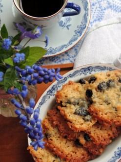 Havresmåkager med tørrede blåbær
