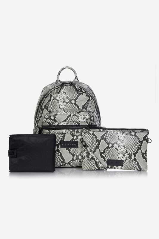 Tiba and Marl Miller Backpack (tonal snake print)