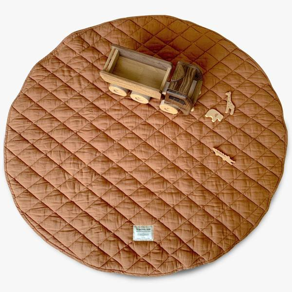 Warren Hill Linen Playmat (rust)