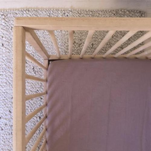 7 Pm Linen Cot Sheet (rosewood)