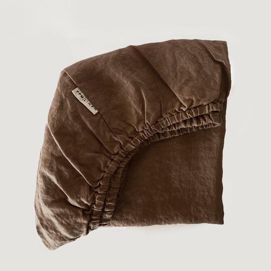 7 Pm Linen Cot Sheet (mud)