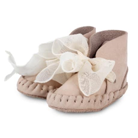 Donsje Amsterdam Pina Organza Lining Walnut Nubuk w/cedar cotton laces