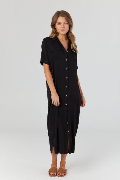 Legoe heritage Lover Shirtdress (black)