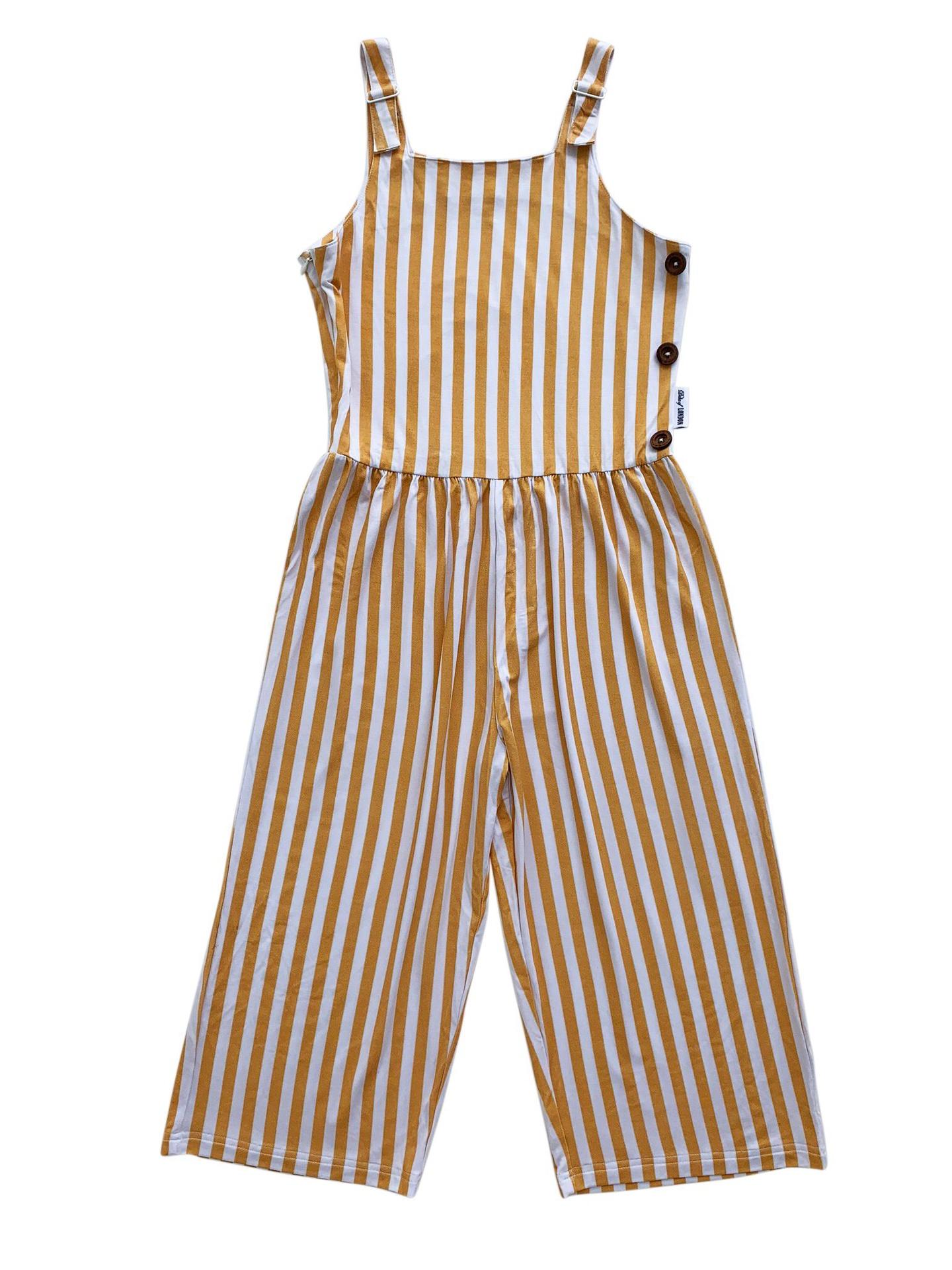 Duke of London Jamaican Jumpsuit (lemon stripe)