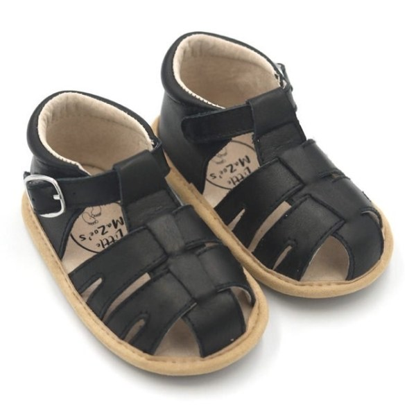 Little Ma Zoes Deluxe Sandal (black)