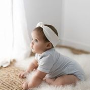 """Two Darlings Baby """"Basics"""" Bodysuit Bamboo (pale blue)"""