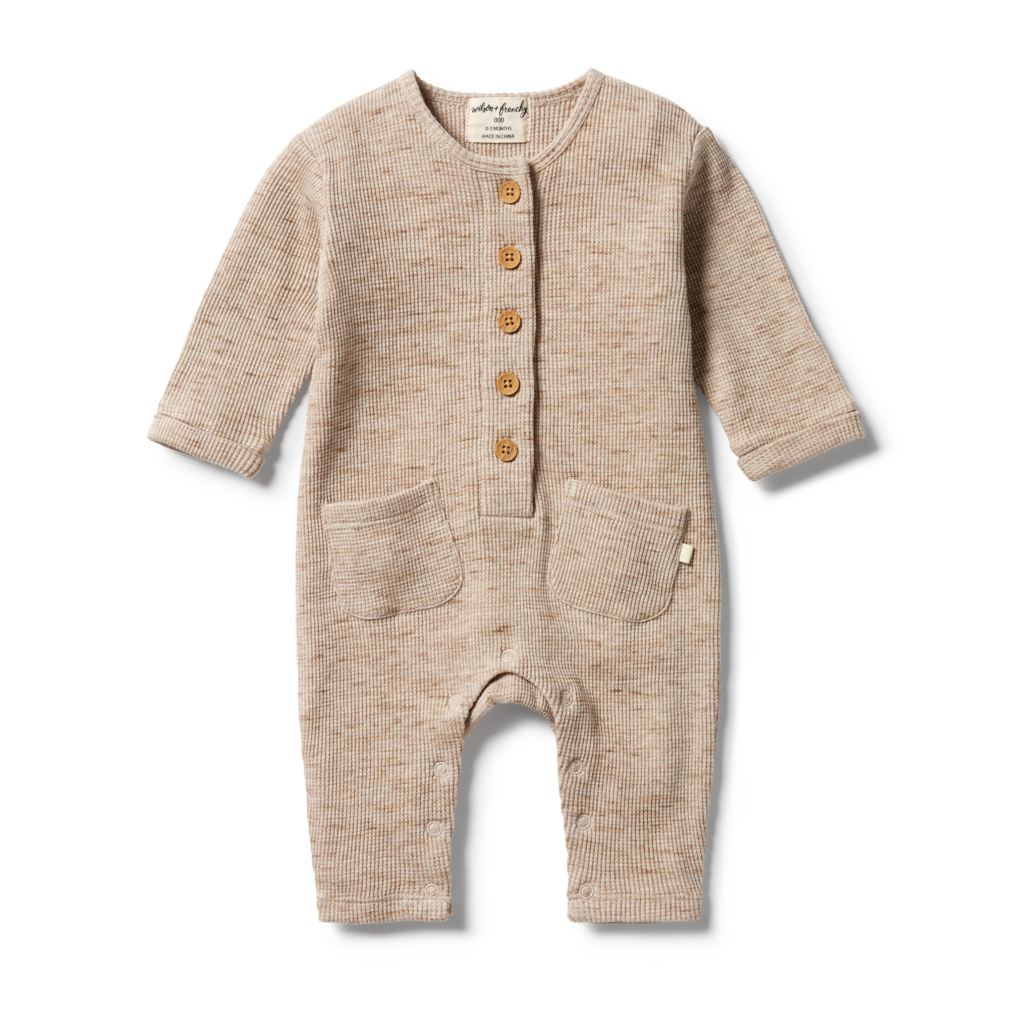 Wilson and Frenchy Waffle Slouch Growsuit