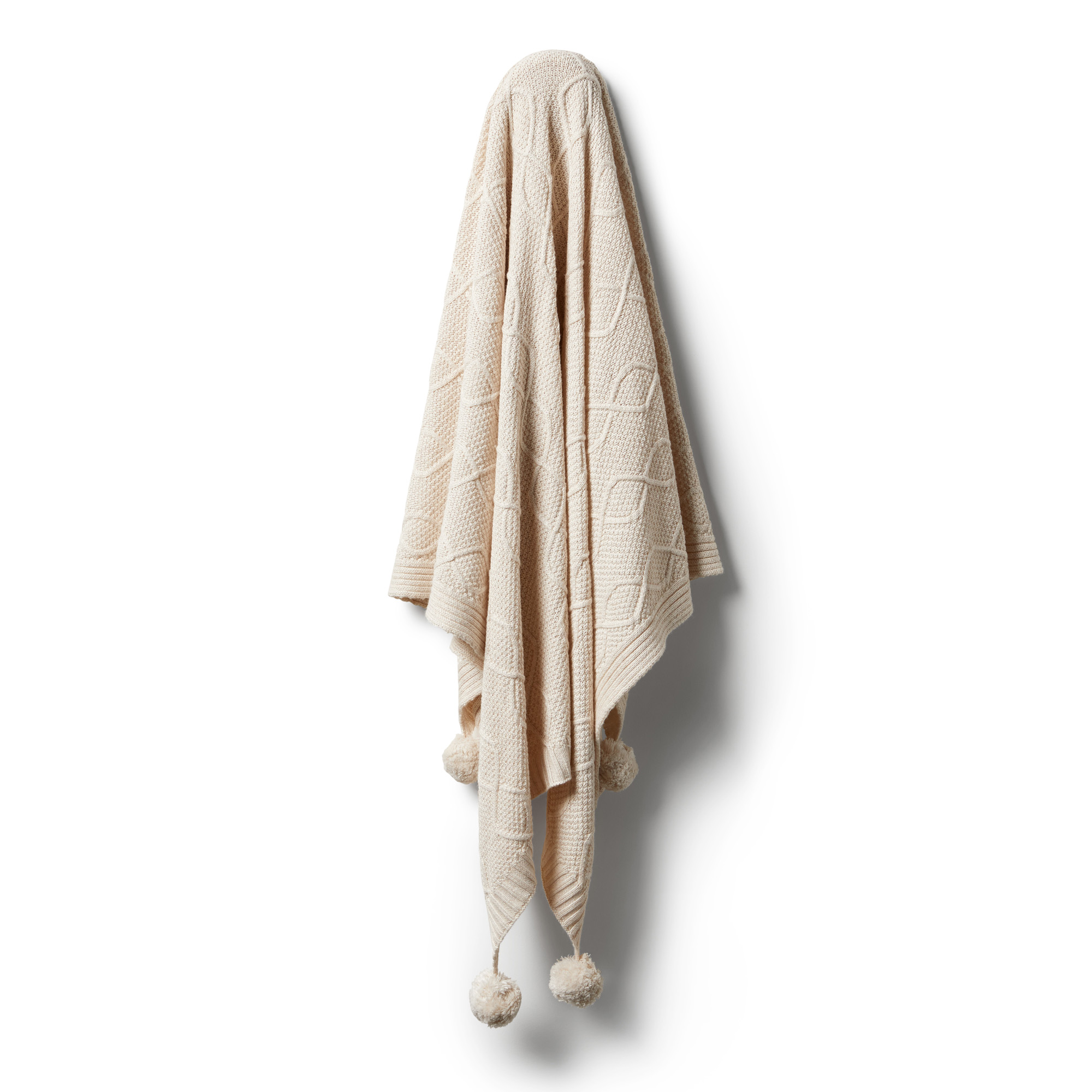 Wilson and Frenchy Knitted Cable Blanket (oatmeal melange)