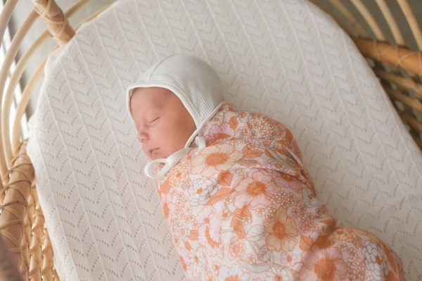 Two Darlings Baby Bamboo Swaddle (wildflower)