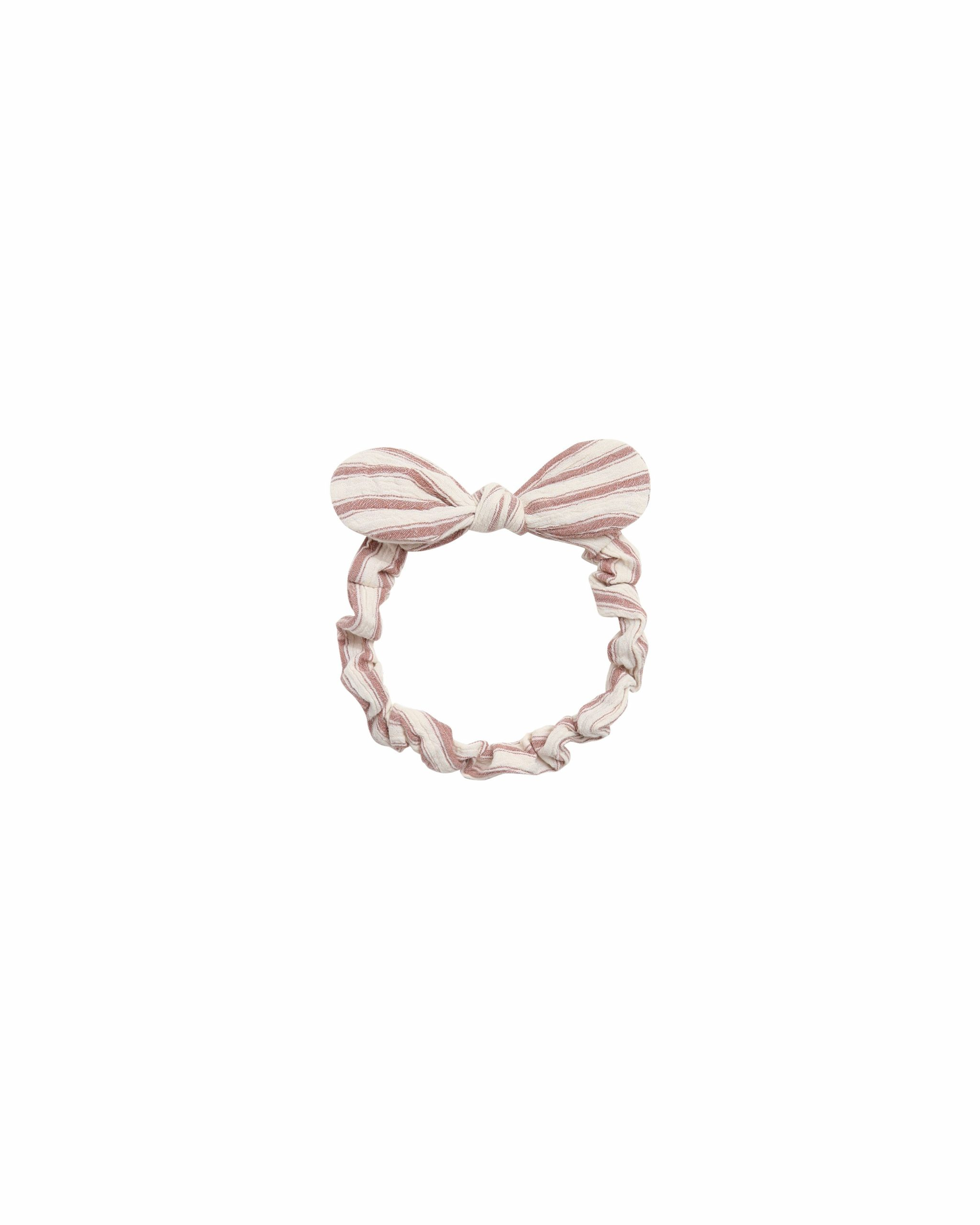 Rylee and Cru Baby Bow Headband (amber/natural stripe)