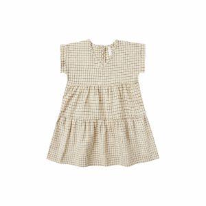 Rylee and Cru Vienna Dress (butter grid)