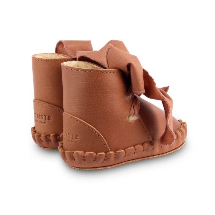 Donsje Amsterdam Pina Organza Lining Cognac Classic Leather w/ Toffee Cotton