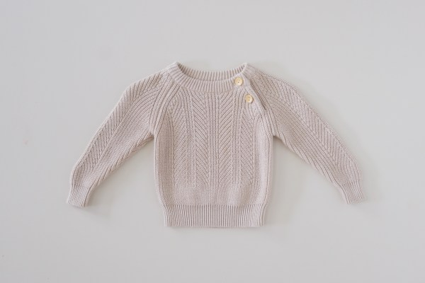 Two Darlings Baby Knit Sweater (cashew) ** Pre Order