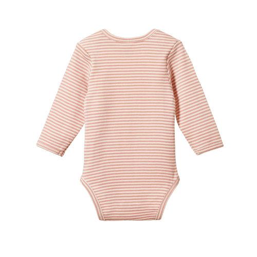 Nature Baby Long Sleeve Bodysuit (tulip stripe)