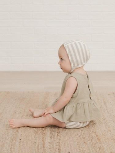 Quincy Mae Baby Sleeveless Peplum Set