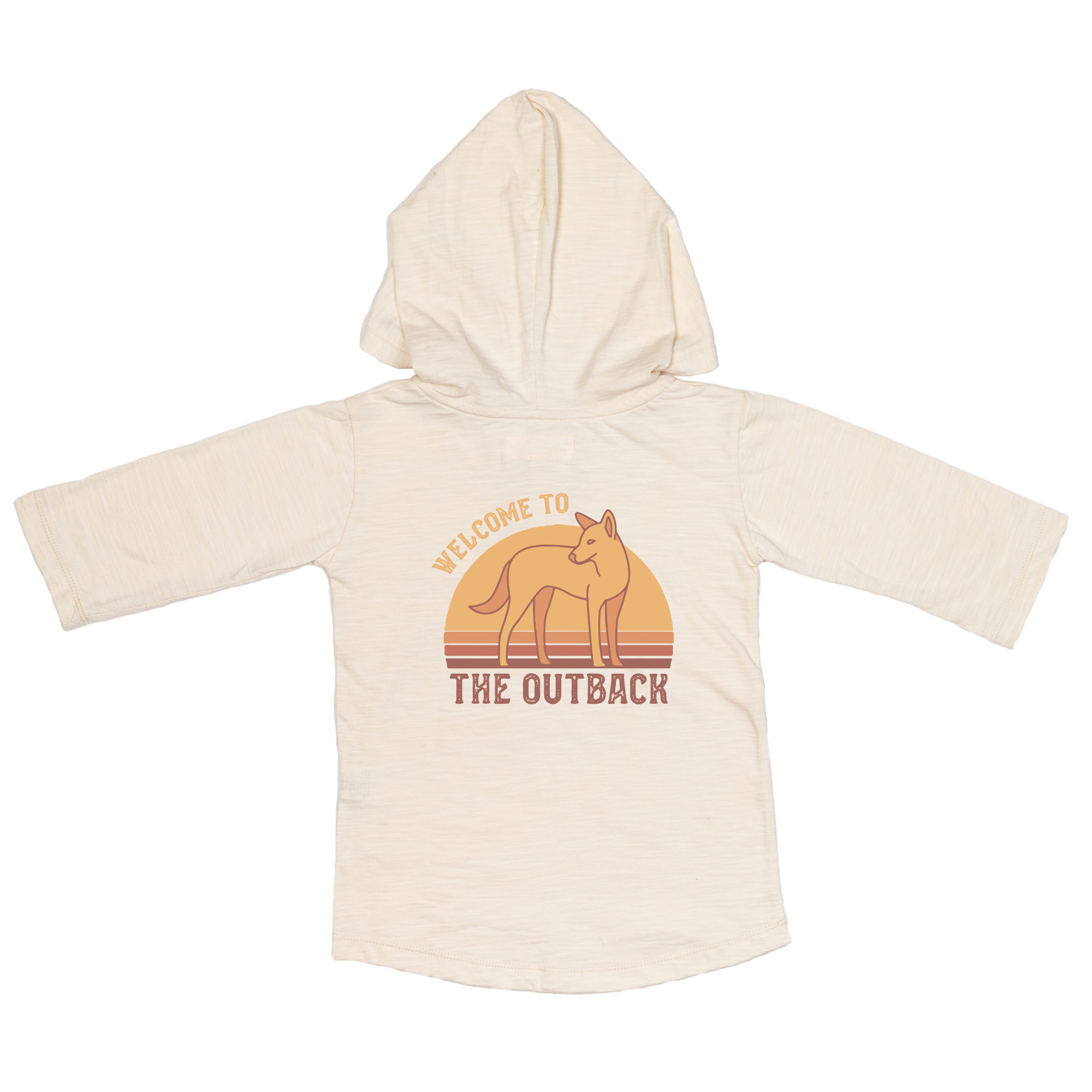 Children of the Tribe Oatmeal Hooded 3/4 Sleeve Tee **Pre Sale