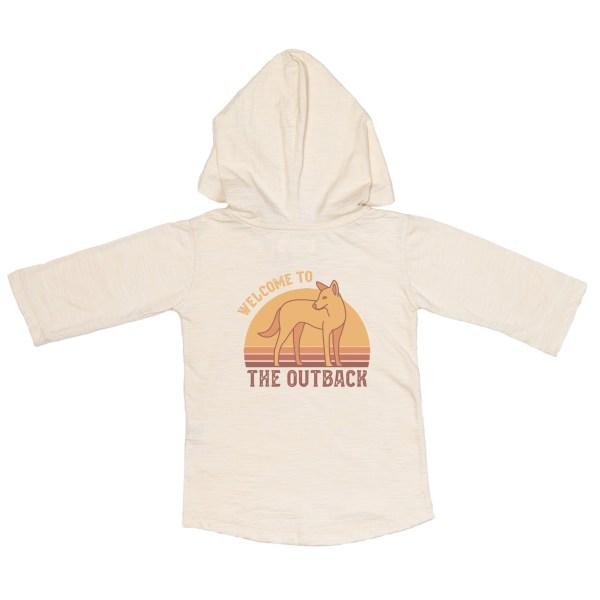 Children of the Tribe Oatmeal Hooded 3/4 Sleeve Tee
