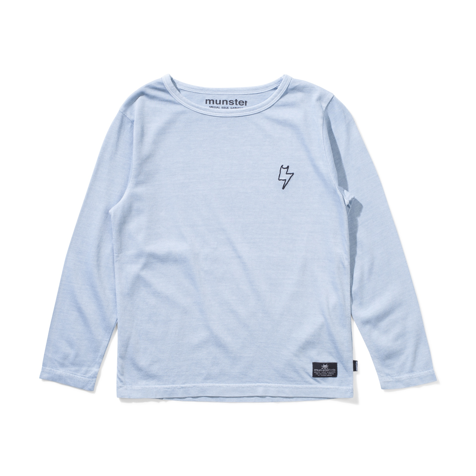 Munster Washed Up Long Sleeve Tee (washed mid blue)
