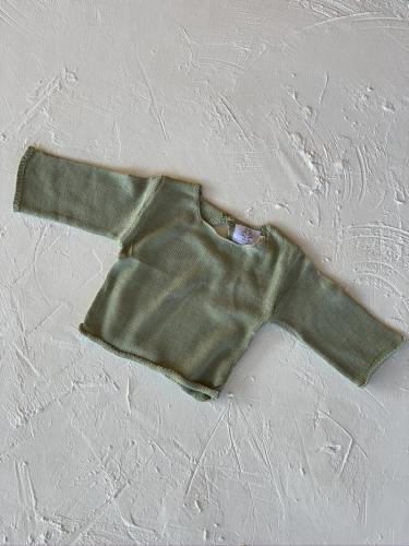 By Billie Yoko Knit Romper (green stripe)