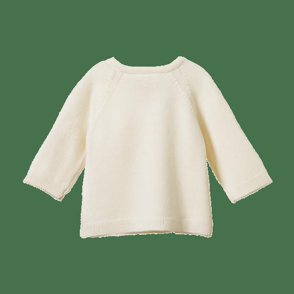 Nature Baby Merino Knit Kimono Jacket (natural)
