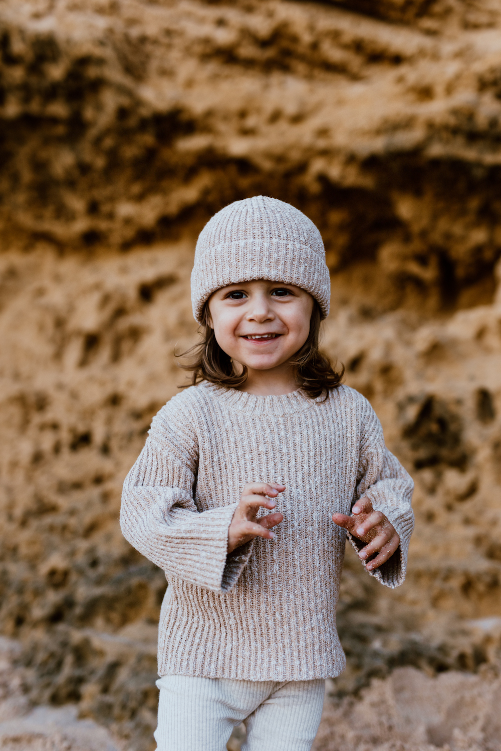 Grown Chunky Knit Pull Over (ecru)