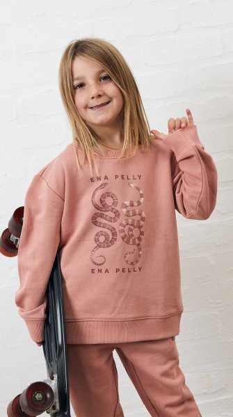 Ena Pelly Essential Kids Track Pant (cameo pink)
