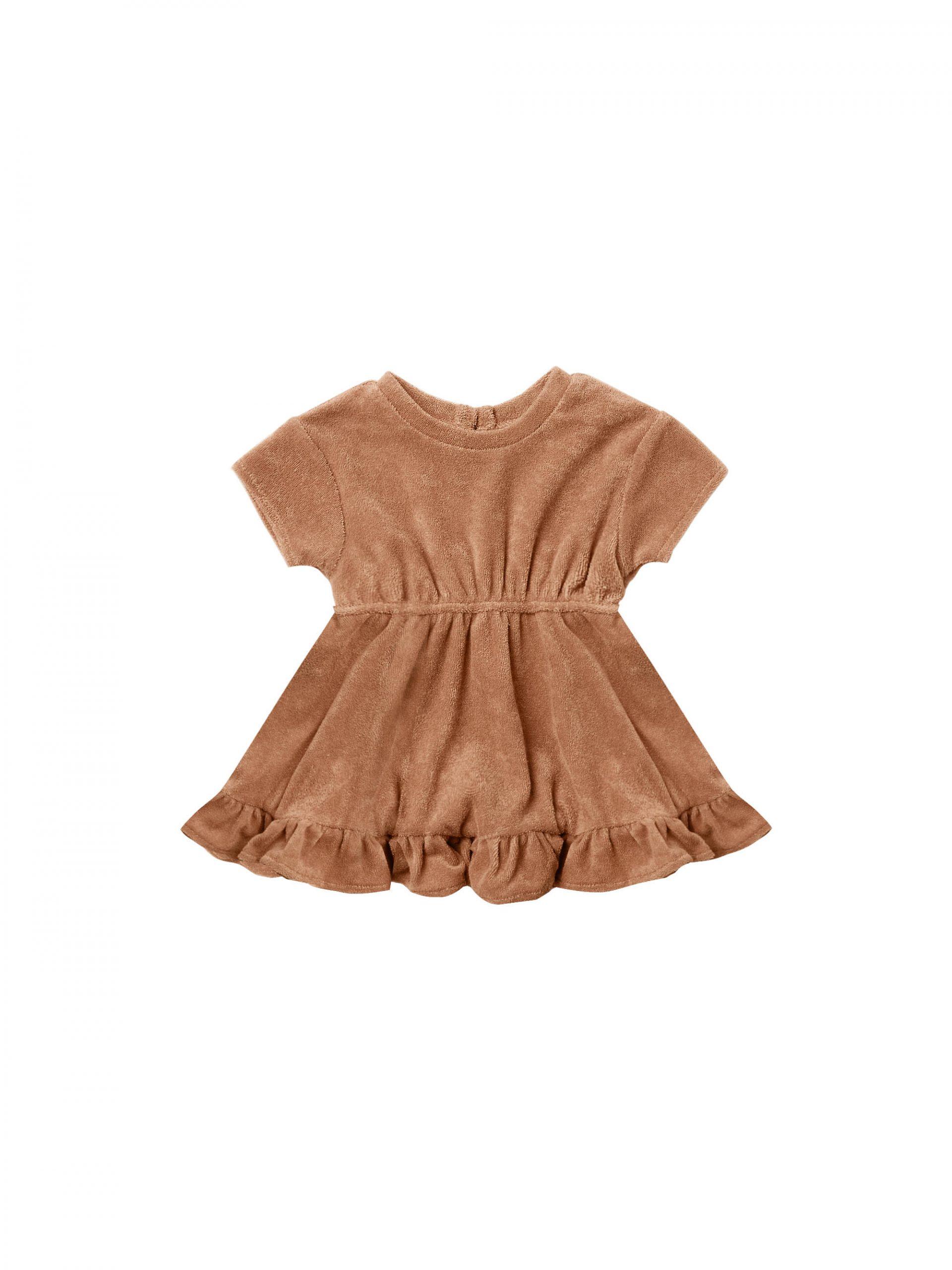 Quincy Mae Terry Dress + Bloomer Set (terracotta)