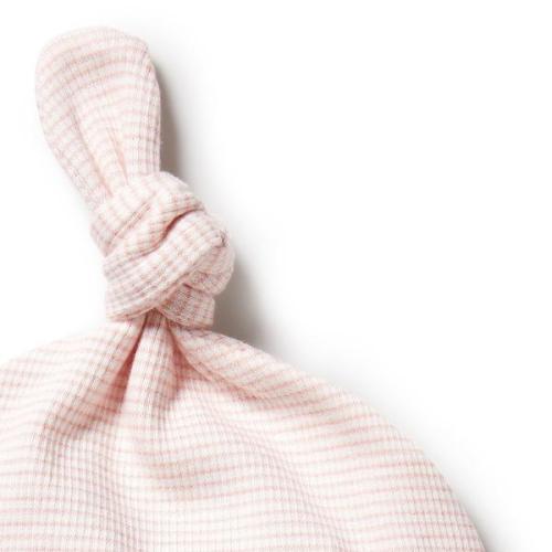 Wilson and Frenchy Organic Stripe Rib Knot Hat (cantaloupe)