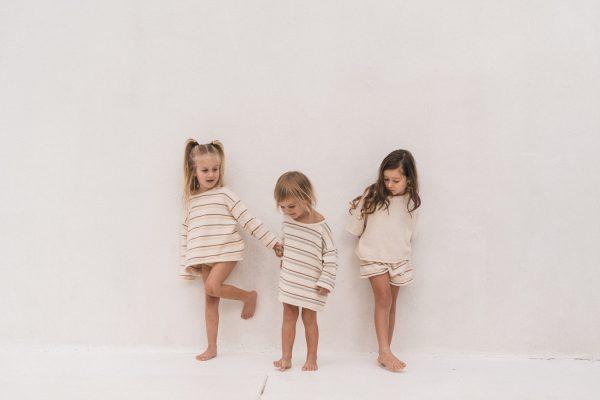 Illoura Essential Knit Shorts (pink stripe)