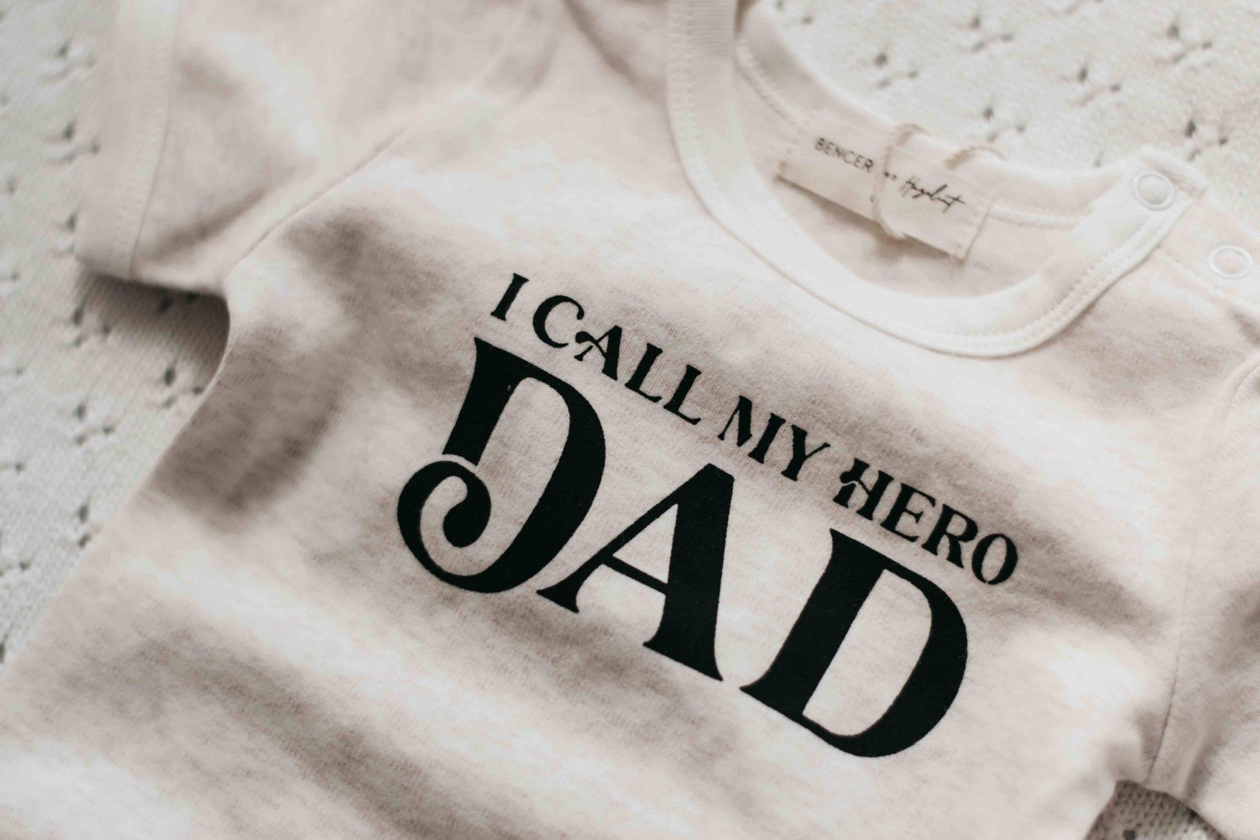 Bencer and Hazelnut Dads My Hero Romper/Tee