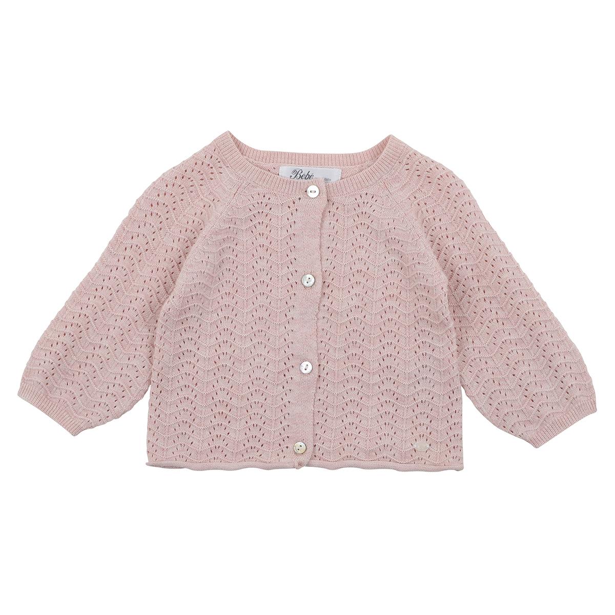 Bebe Pointelle Cardigan (dusty pink)