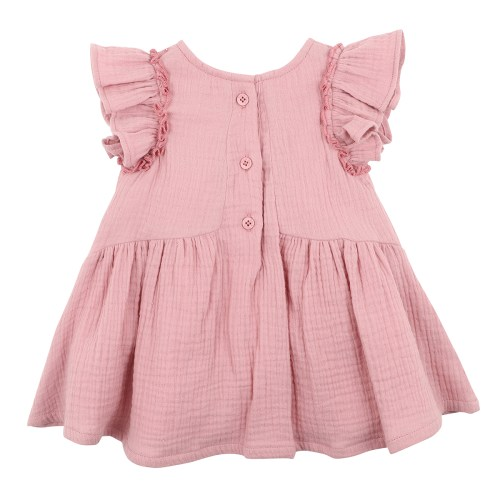 Fox and Finch Amazon Crinkle Dress (dusty pink)