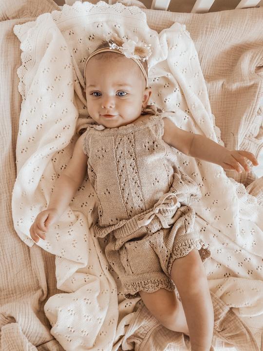 Little B's Vintage Knit Set (oak)