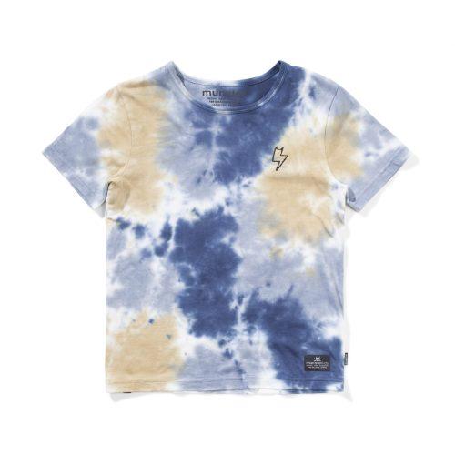 Munster Wave Cat Tee (dark denim/mid blue/tan dye)