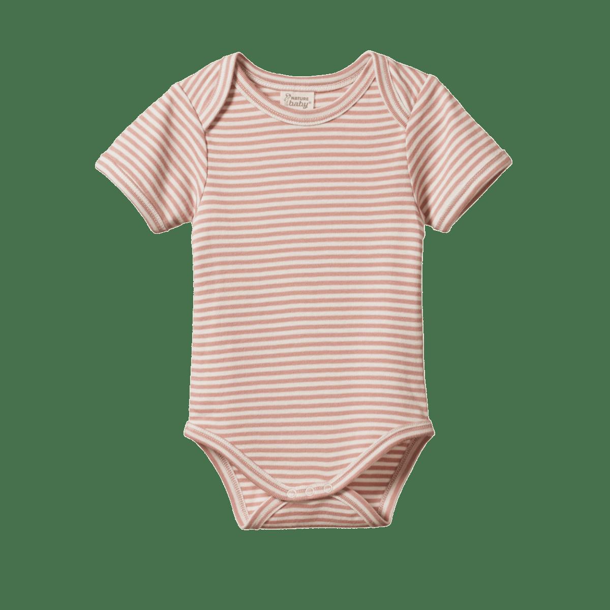 Nature Baby Short Sleeve Bodysuit (tulip stripe)