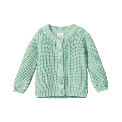 Nature Baby Scout Chunky Knit Cardigan (mint)