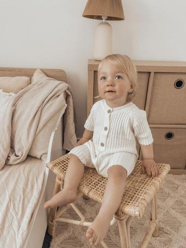 Little B's Ribbed Romper Summer Knit (milk)