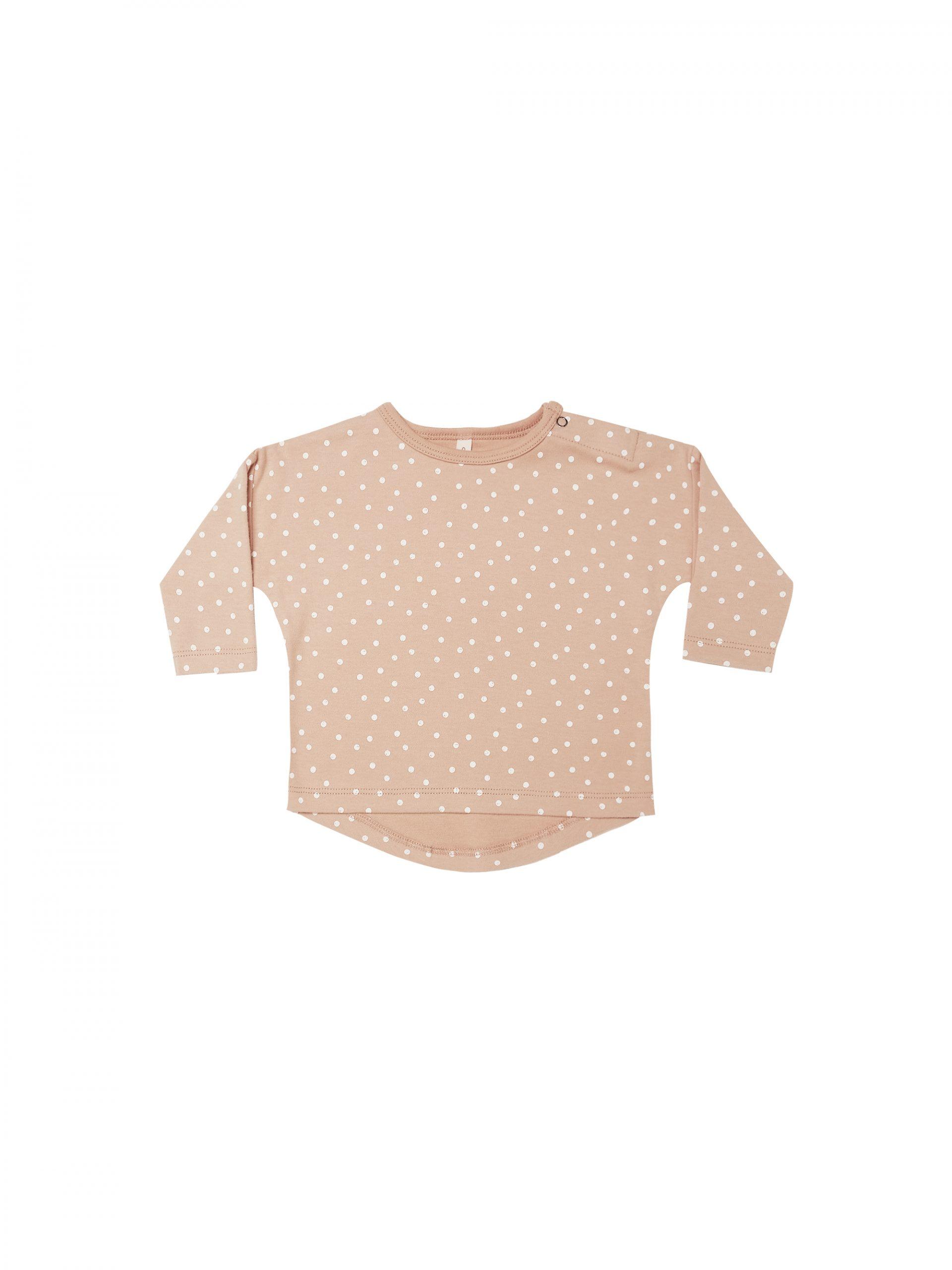 Quincy Mae Baby Long Sleeve Tee (petal)**PRE ORDER