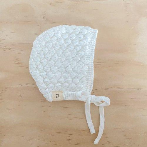 Ziggy Lou Heirloom Knitted Bonnet (milk)