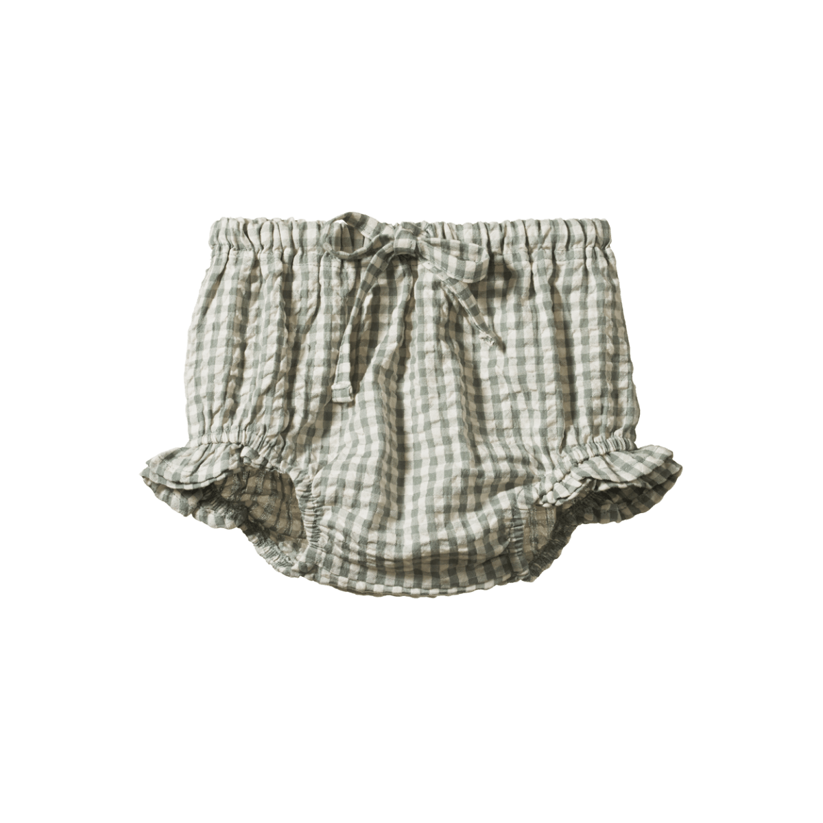 Nature Baby Gingham Petal Bloomers (lagoon check)