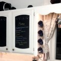 DIY Chalkboard Cabinet Doors {Love My DiY Home}