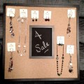 cork board jewelry holder